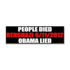 Cute Obama lied Car Magnet 10 x 3