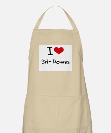 I Love Sit-Downs Apron