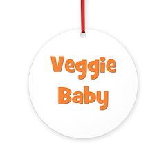 Veggie Baby Orange Ornament (Round)