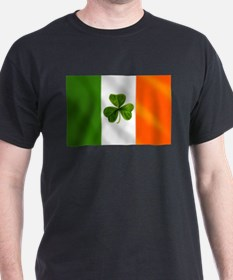 Irish Shamrock Flag T-Shirt