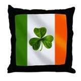 Irish flag Throw Pillows