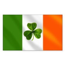 Irish Shamrock Flag Decal
