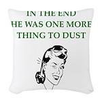 lazy husband divorce joke Woven Throw Pillow
