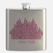 Dark Pink Castle, Custom Text. Flask