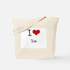 I Love Six Tote Bag
