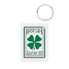 IrishAmericanWht Keychains
