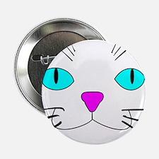 "cat face 2.25"" Button"