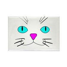 cat face Rectangle Magnet (100 pack)