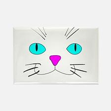 cat face Rectangle Magnet