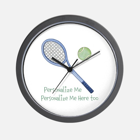 Personalized Tennis Wall Clock