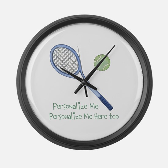 Personalized Tennis Large Wall Clock