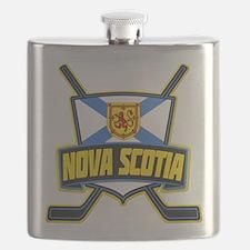 Nova Scotia Hockey Flag Logo Flask