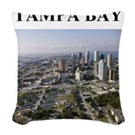 tampa bay florida gifts Woven Throw Pillow