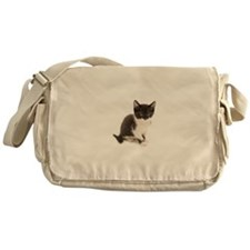 Cute Tuxedo Kitten Messenger Bag