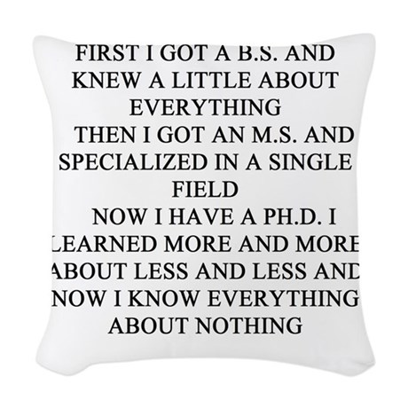 PHD.Png Woven Throw Pillow