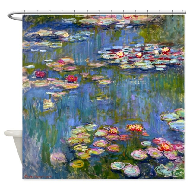water lilies by claude monet shower curtain by
