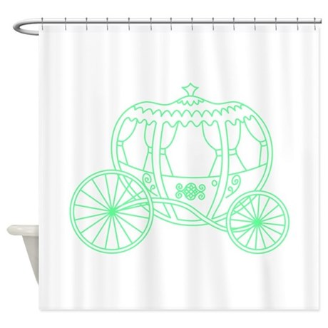 Green fantasy carriage shower curtain by metarla4 for Fantasy shower curtains