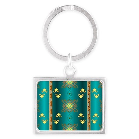 Sun In Winter Blanket Design Keychains