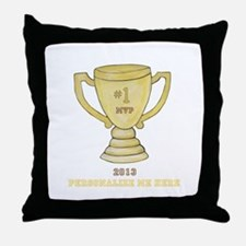 Personalized Trophy Throw Pillow