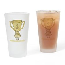 Personalized Trophy Drinking Glass