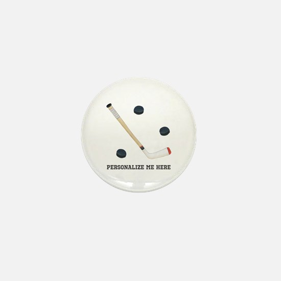 Personalized Hockey Mini Button