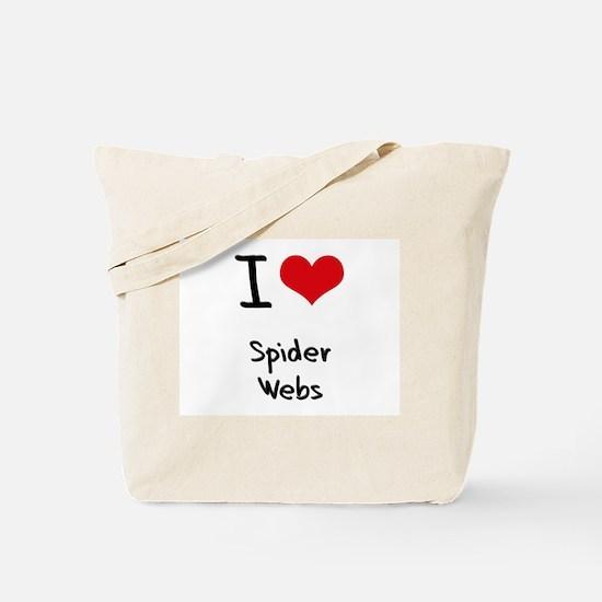 I Love Spider Webs Tote Bag
