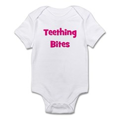 Teething Bites! Pink Infant Bodysuit