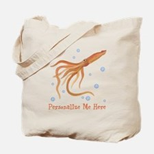 Personalized Squid Tote Bag