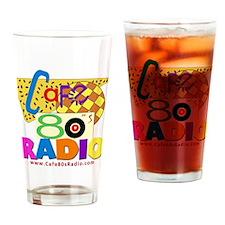 Cafe 80s Radio Drinking Glass
