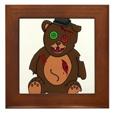Dead bear Framed Tile
