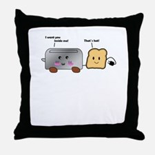 Toaster and Toast Throw Pillow
