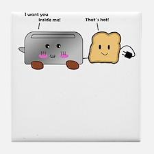 Toaster and Toast Tile Coaster
