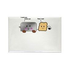 Toaster and Toast Rectangle Magnet