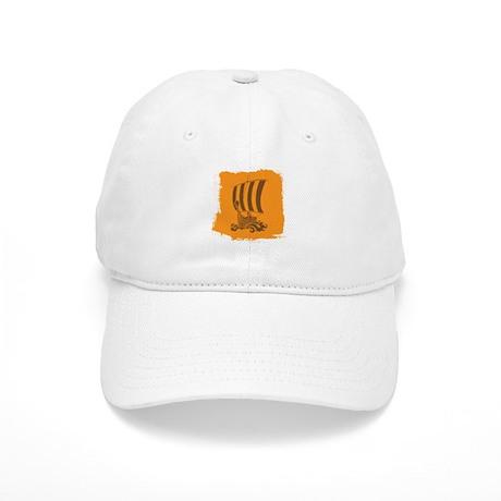 Orange and Brown Viking Design. Baseball Cap