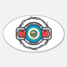Minnesota Boxing Oval Decal