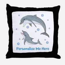 Personalized Dolphin Throw Pillow