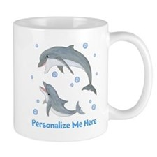 Personalized Dolphin Small Mugs