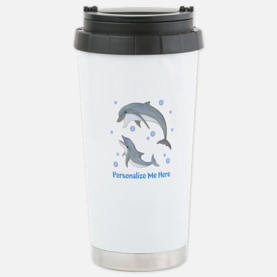 Personalized Dolphin Stainless Steel Travel Mug