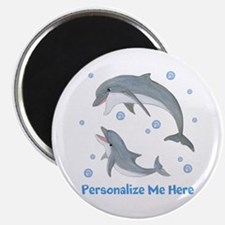 Personalized Dolphin Magnet