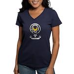 Badge - Durie Women's V-Neck Dark T-Shirt