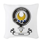Badge - Durie Woven Throw Pillow
