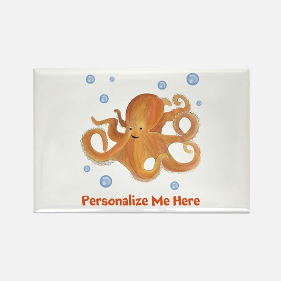 Personalized Octopus Rectangle Magnet