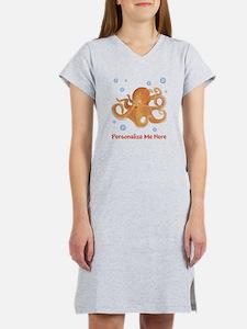 Personalized Octopus Women's Nightshirt