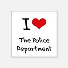 I Love The Police Department Sticker