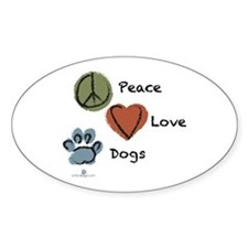 peace-love-dogs-circles Decal