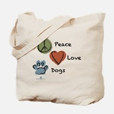 peace-love-dogs-circles Tote Bag