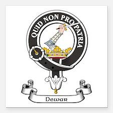"Badge - Dewar Square Car Magnet 3"" x 3"""
