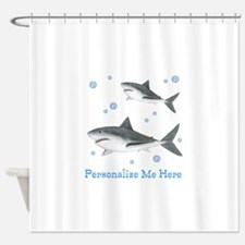 Personalized Shark Shower Curtain