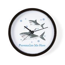 Personalized Shark Wall Clock