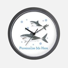 Personalized Shark Wall Clock